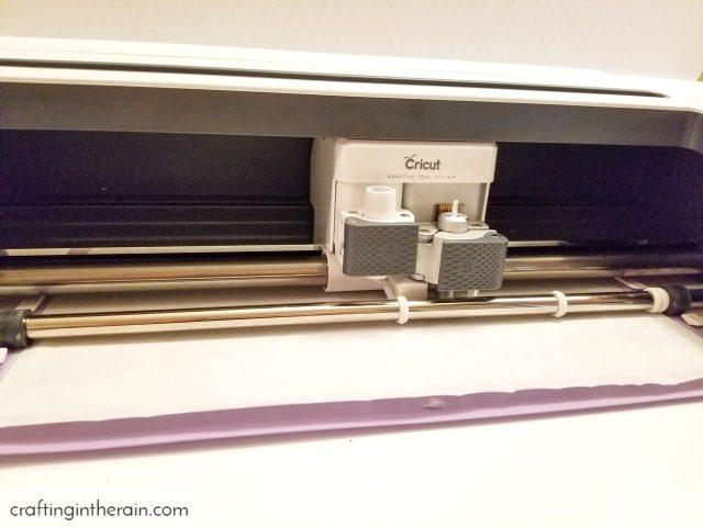 Cut freezer paper with Cricut
