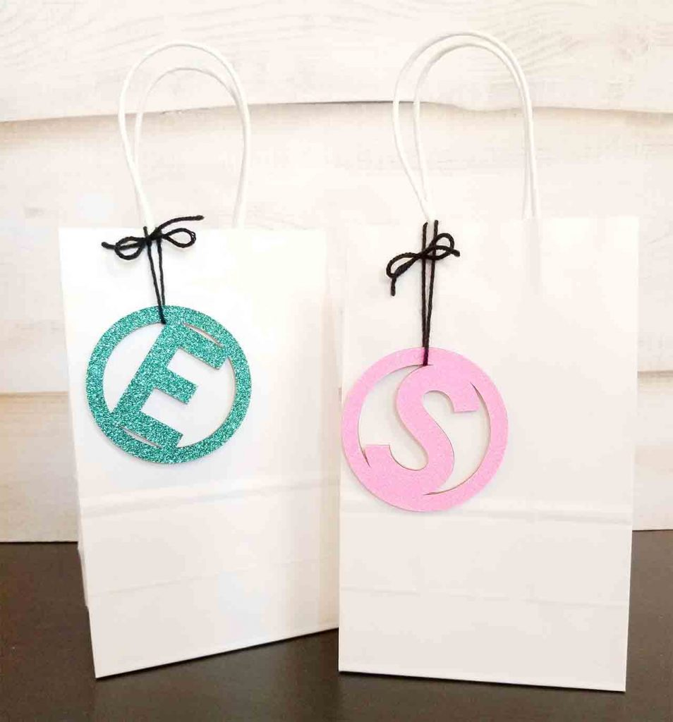 Cricut chipboard gift tags