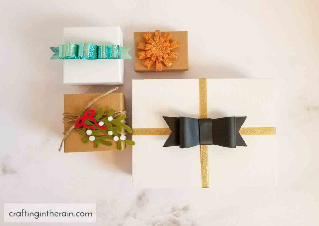 gift decorating ideas with Cricut