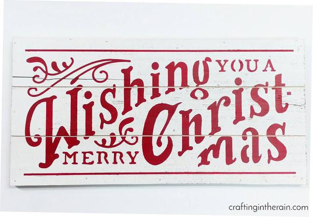diy merry Christmas sign