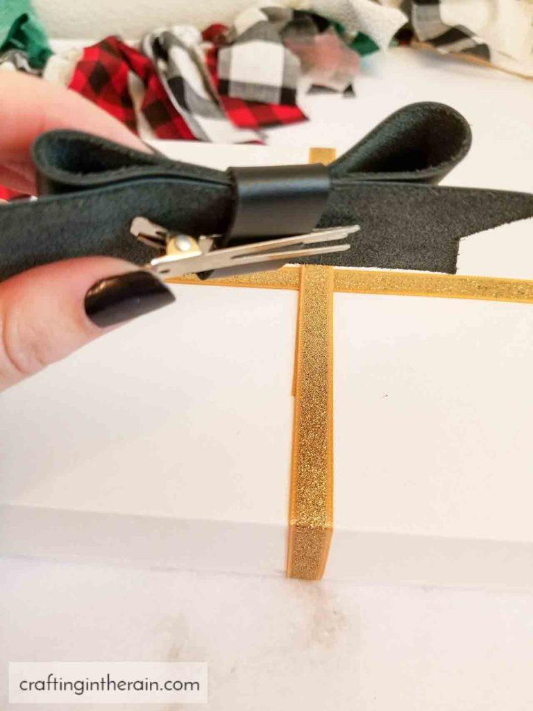 hair bow gift topper