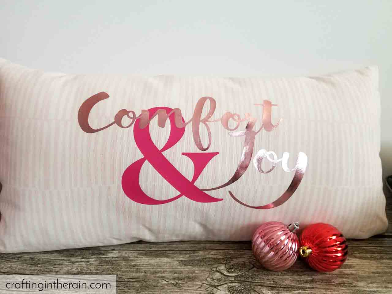 pink christmas pillow