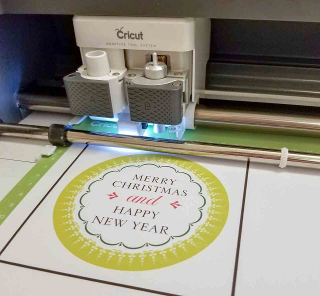 print then cut Christmas card
