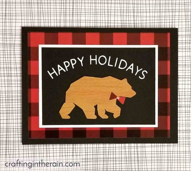 red plaid holiday card