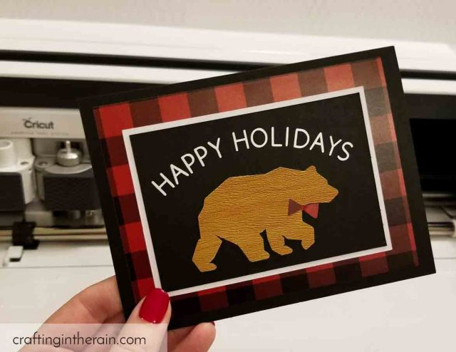 woodsy holiday card diy