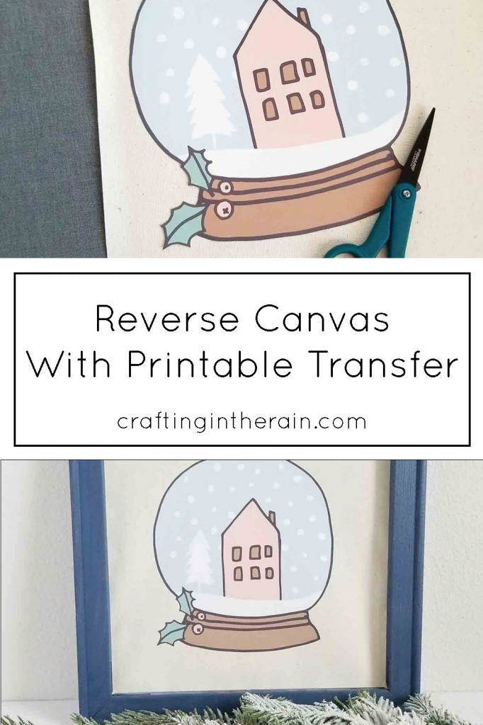Reverse canvas with printable transfer