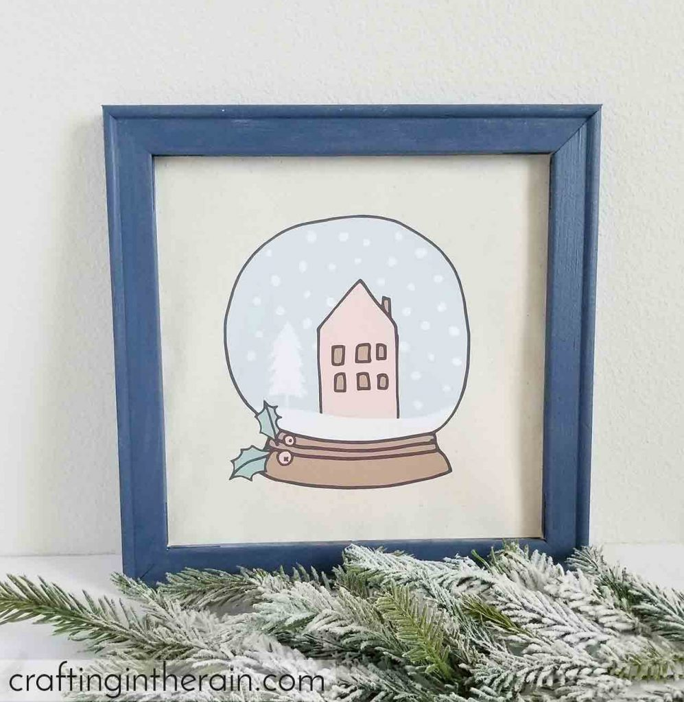 snow globe transfer canvas