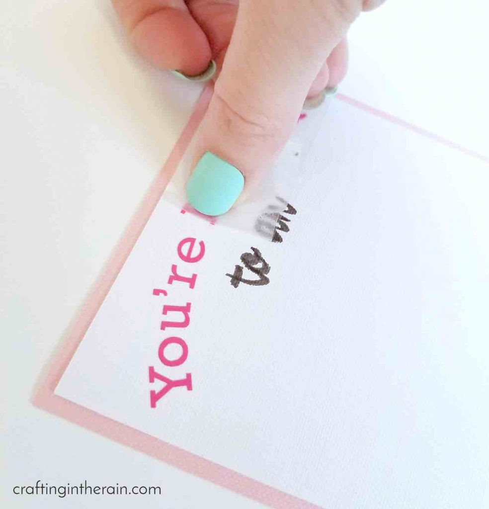 Adding vinyl to cardstock