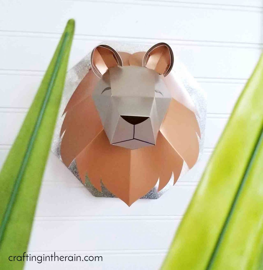 Cricut lion head assembly