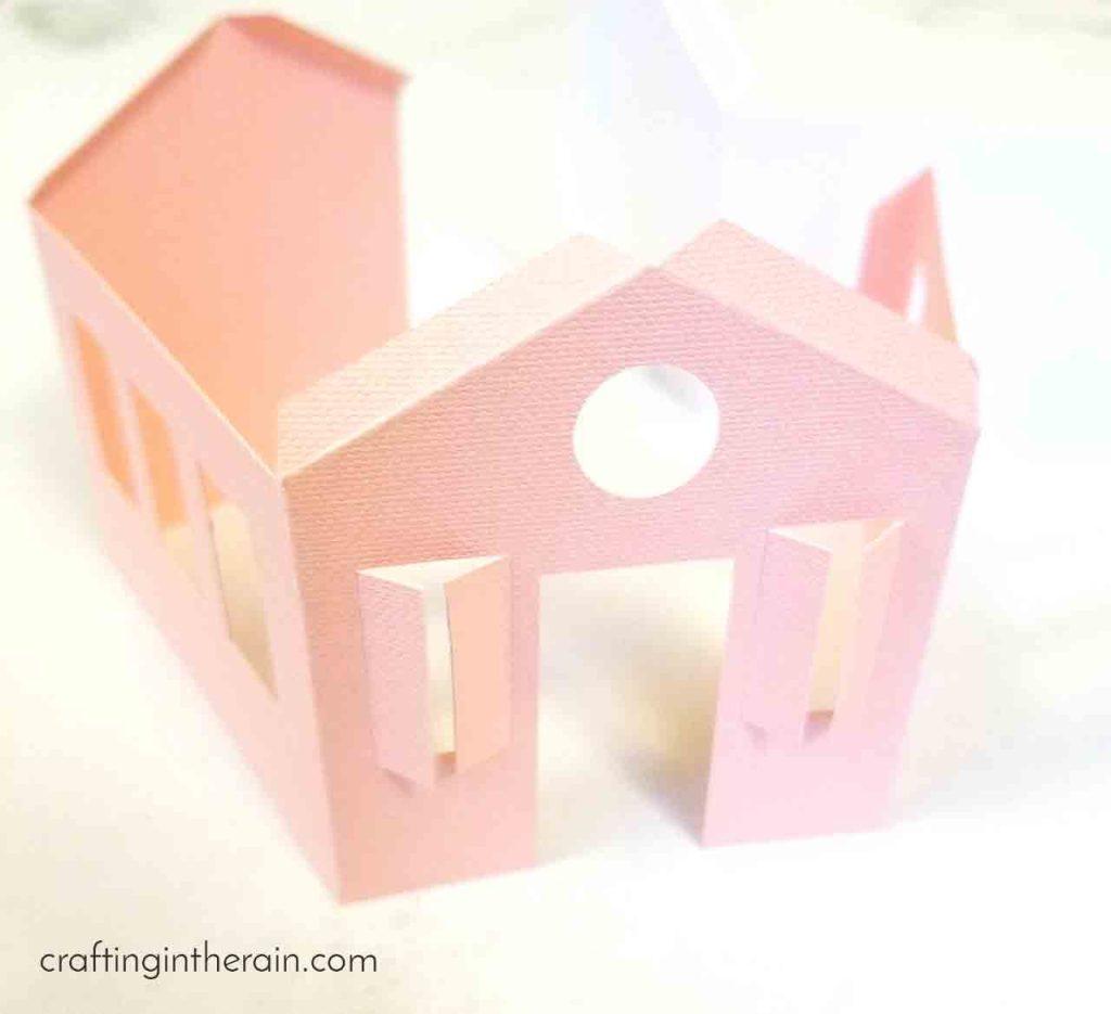 Cricut paper house