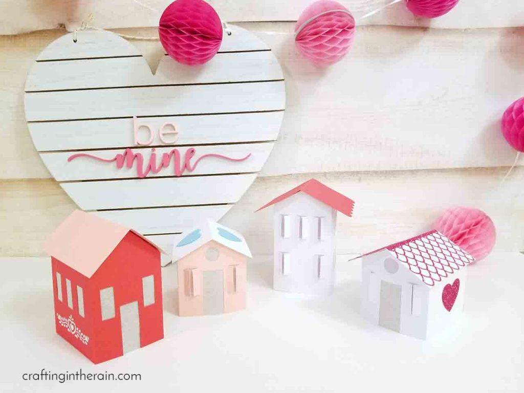 Cricut paper houses