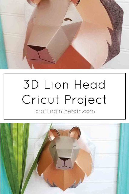 3D Lion Head with Cricut Scoring Wheel - Crafting in the Rain