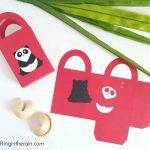 Cute Panda Gift Bags made with Cricut
