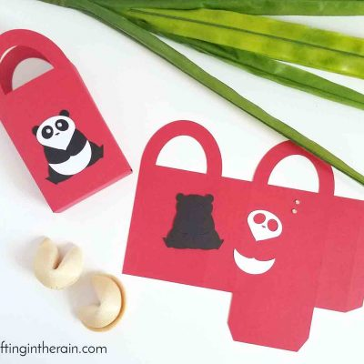 Cute Panda Gift Bags made with Cricut