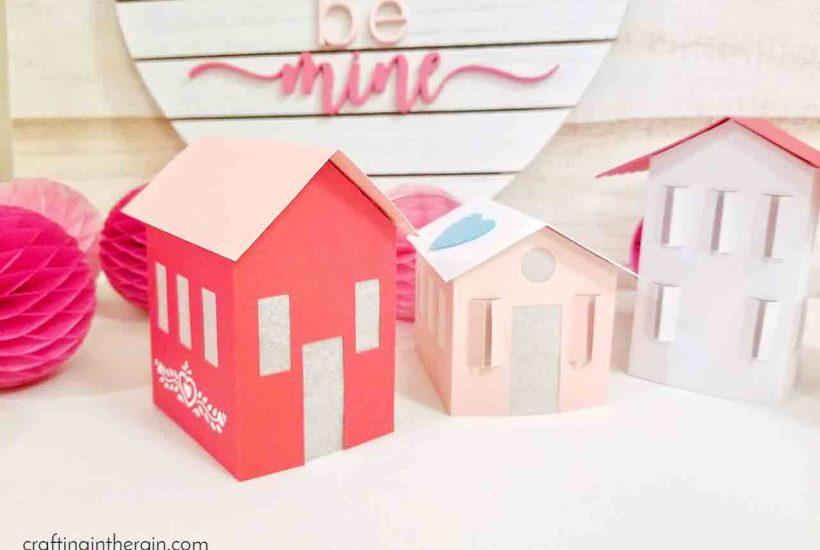 Valentine paper houses