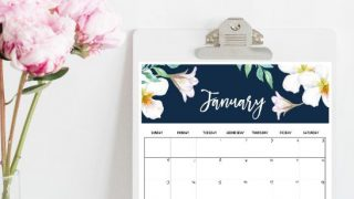 Calendar 2019 Printable: FREE 12 Monthly Calendars To Love!