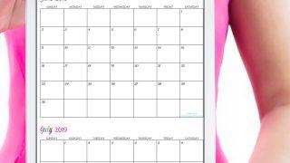 Custom Editable Free Printable 2019 Calendars