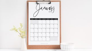 Monthly Printable Calendar 2019 | FREE Download