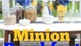 Throw an Easy Minion Breakfast Party