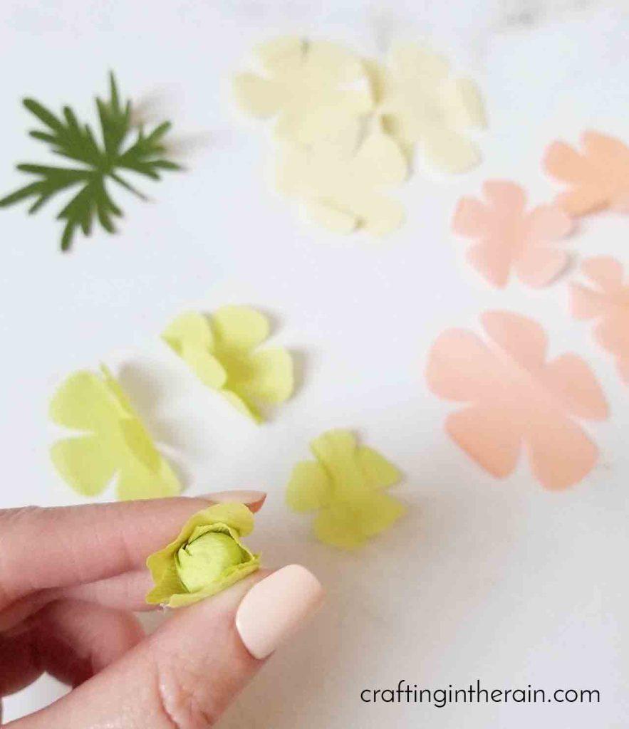 Crepe paper flower petals