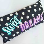 DIY sweet dreams pillow