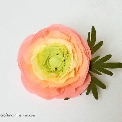 How to Make Crepe Paper Ranunculus