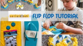 How to Make Minion Flip Flops