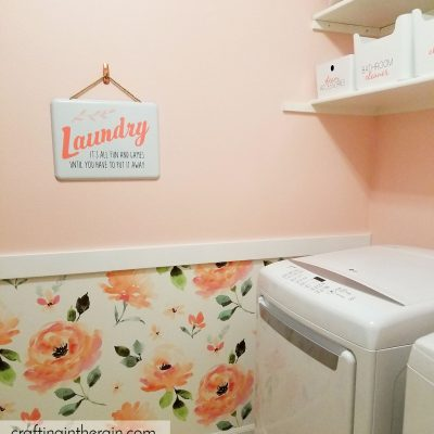 Laundry Room Organization with Cricut