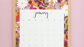2019 Calendar - free printable!