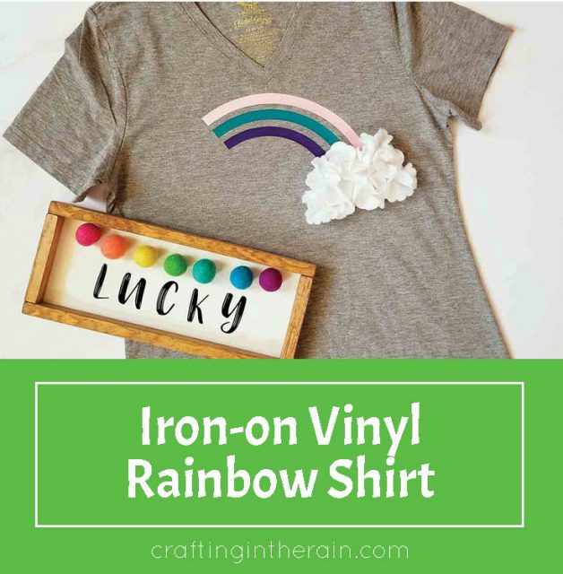 Rainbow shirt with Cricut