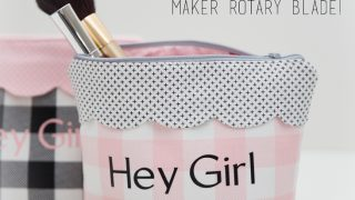 DIY Scalloped Zipper Pouch Tutorial (with the Cricut Rotary Blade!)