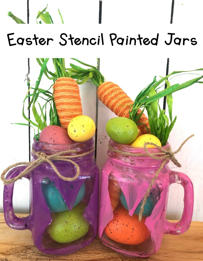 Bunny stencil jar
