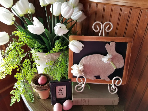 Fabric bunny decor