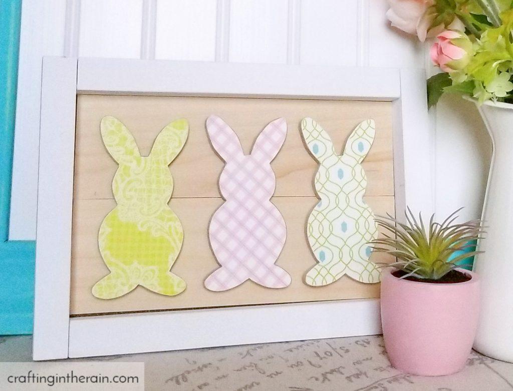 Framed bunny art