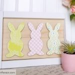 Framed Mod Podge Bunnies