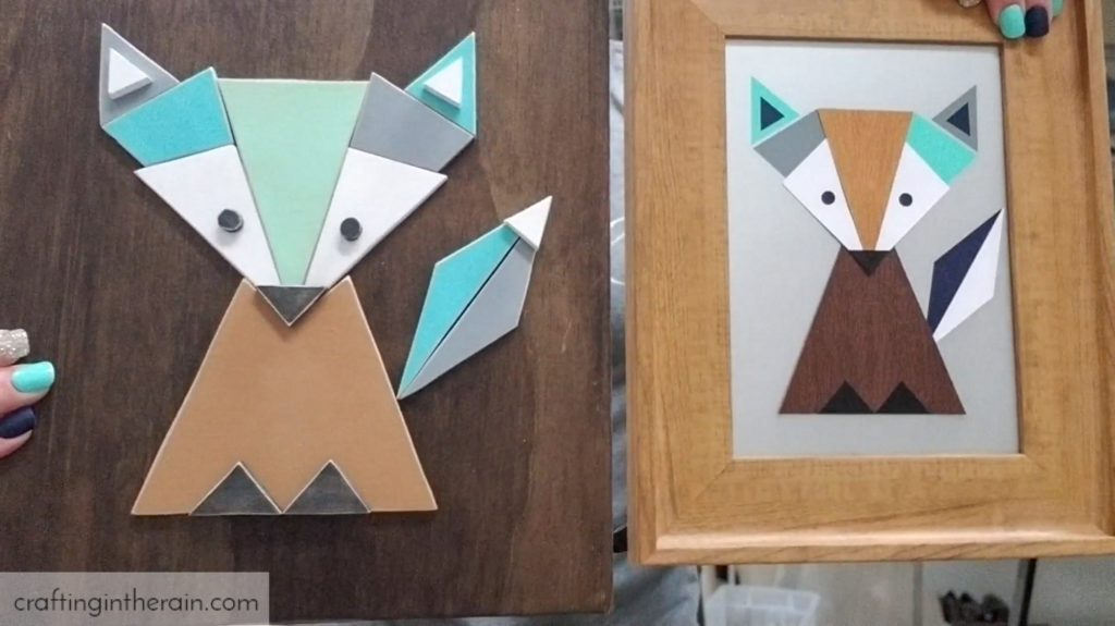 geometric fox pattern scrollsaw