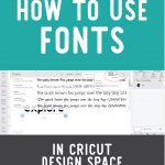 Using Fonts in Cricut Design Space