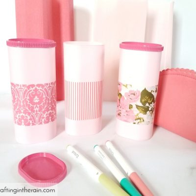 Upcycled Crystal Light Containers