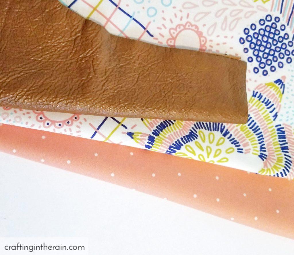 Peach polka dot fabric