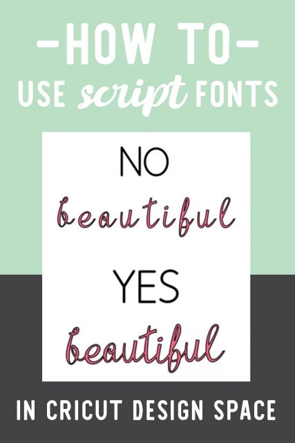 Script fonts in Design Space