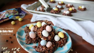 Easy No-Bake Cookies with Cadbury Mini Eggs