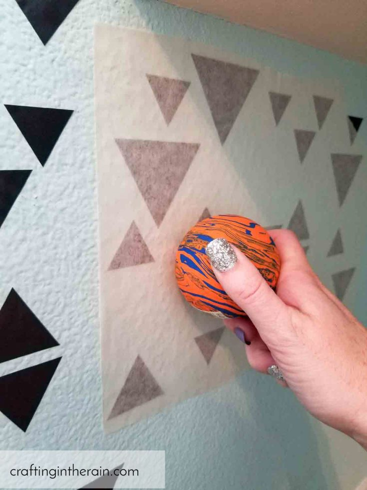 Apply vinyl to textured wall