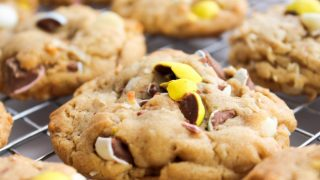 Cadbury Mini Egg Chocolate Coconut Cookies