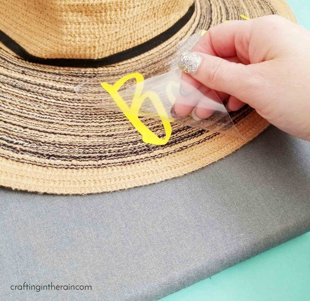DIY beach hat