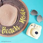 DIY Beach Hat with Heat Transfer Vinyl