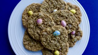 Mini Egg Oatmeal Cookies