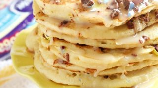 Cadbury Mini Egg Cake Batter Pancakes