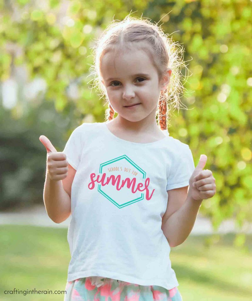 Schools out for summer diy shirt