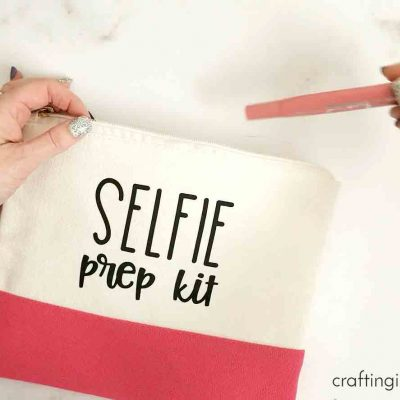 Selfie prep bag idea