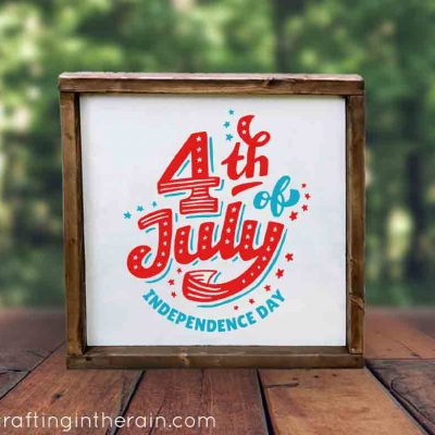 4th of July Wood Sign